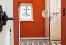 Duschbereich Ferienhaus Odenwald