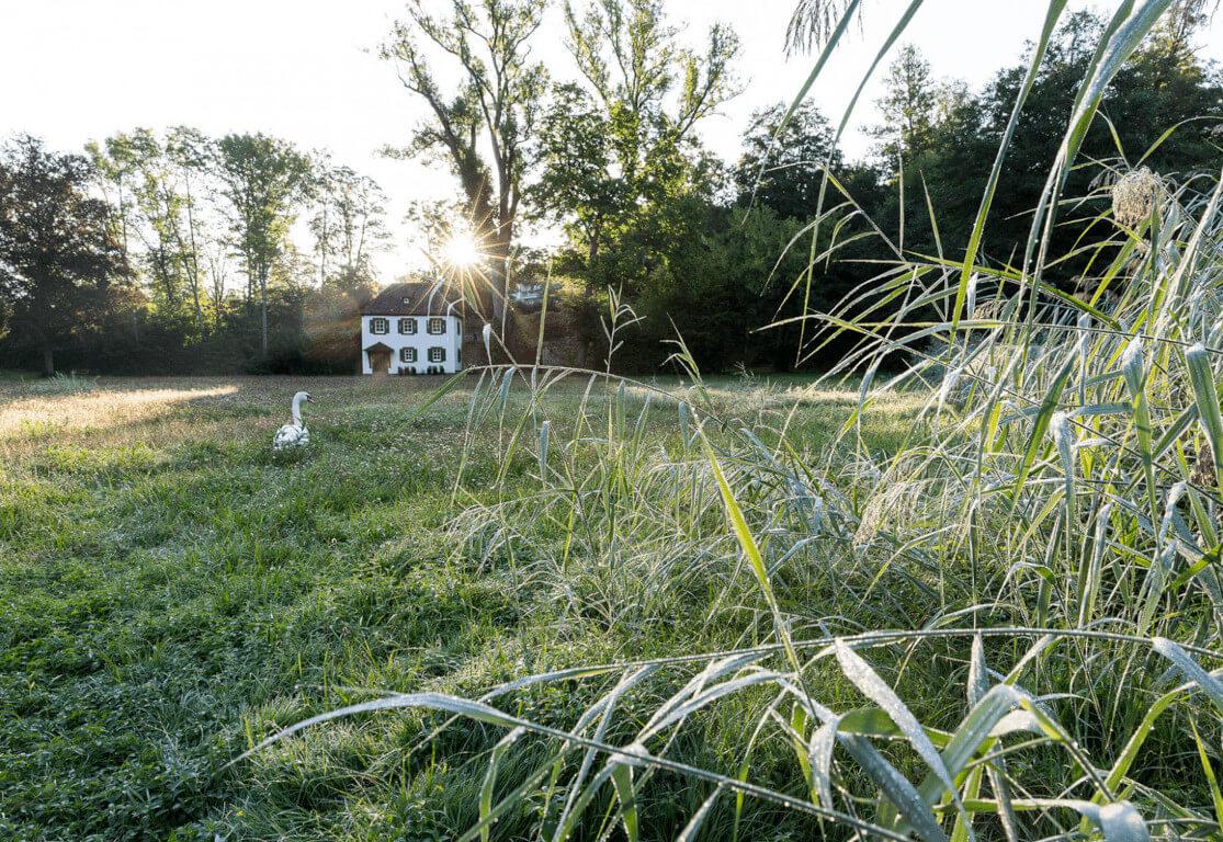 Ansicht des Fischerhauses im Seegarten