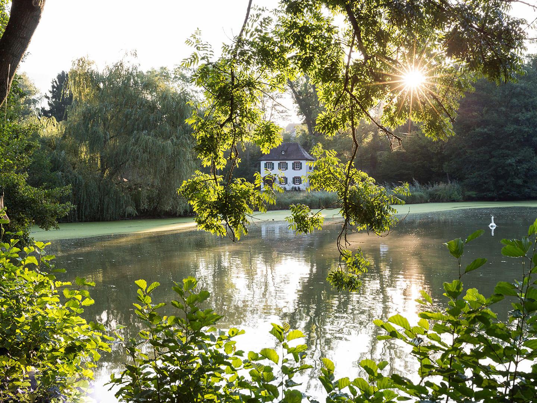 Hochzeit in Bayern mit Blick zum Seegarten